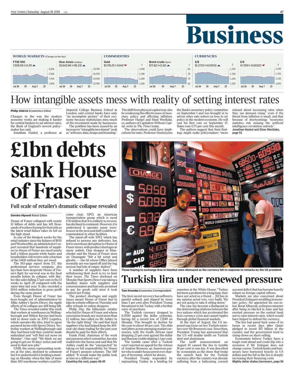 """RT @AllieHBNews: Saturday's TIMES Business: """"£1bn debts sank House of Fraser"""" #bbcpapers #tomorrowspaperstoday https://t.co/CgI1CjHZ6d"""