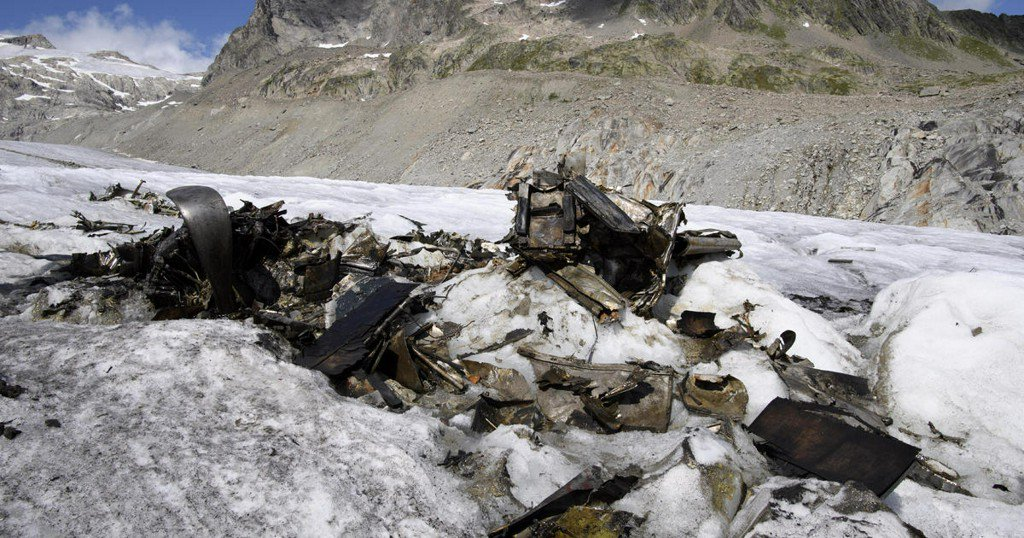 Melting glacier uncovers U.S. WWII plane that crash-landed in Switzerland in 1946