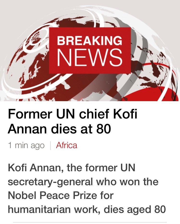 #KofiAnnan