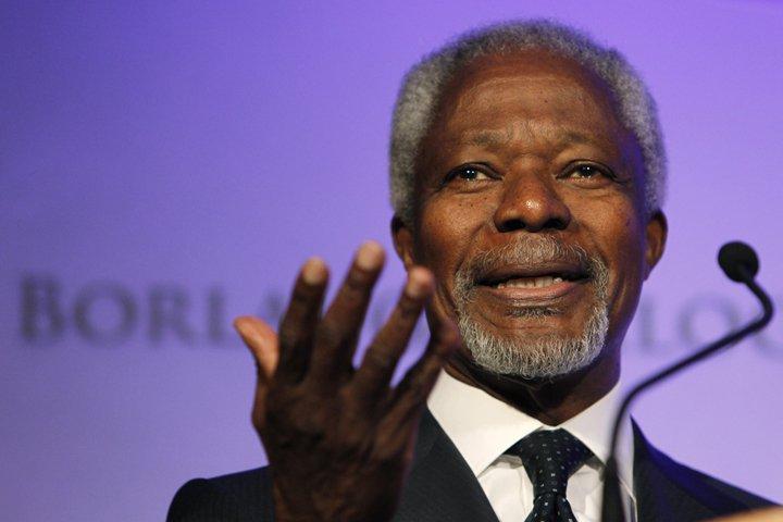 @BroadcastImagem: Morre Kofi Annan, ex-secretário-geral da ONU e ganhador do Nobel da Paz. Charlie Neibergall/AP