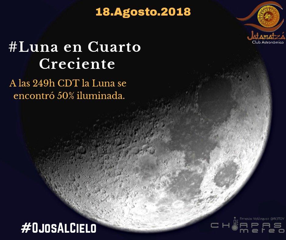 Vía : la luna alcanzó el cuarto creciente a las 249h cdt de hoy ...