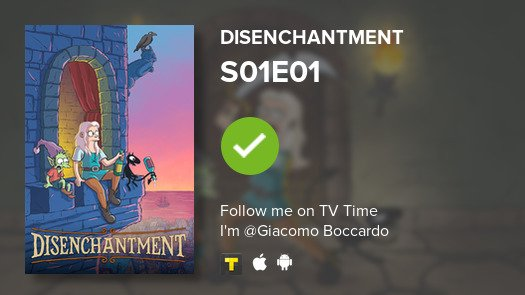 test Twitter Media - I've just watched episode S01E01 of Disenchantment! #disenchantment  #tvtime https://t.co/3PFxDYo2na https://t.co/7yRLjgqb7p
