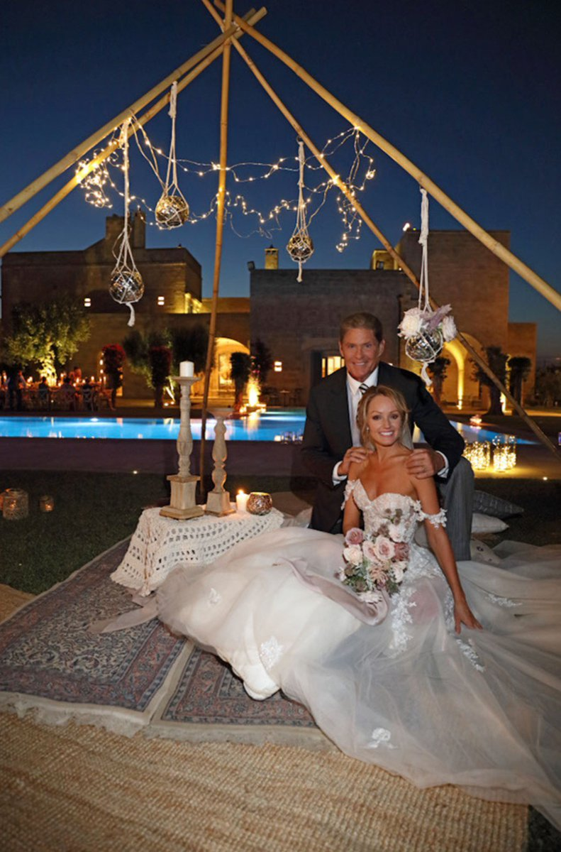 To Renee thank you and Palma and Giovanni for our fairytale wedding venue, See you again!  Mr. And Mrs. Hasselhoff https://t.co/XrqMeQWIy7