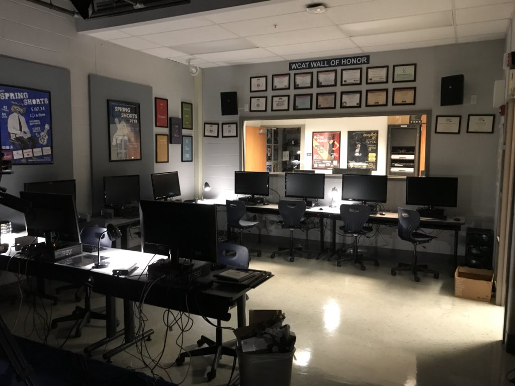 RT @wildcattv: Finishing up some studio improvements as we prepare for another great year. #wcat #wallofhonor https://t.co/LulaDmTmvB
