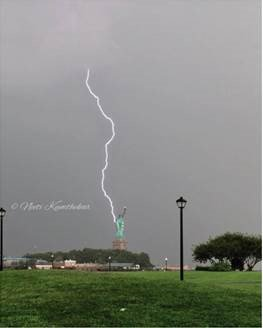 Lady Liberty is Tough! She was Struck by Lightning Yesterday! https://t.co/KaMbcpAMLp