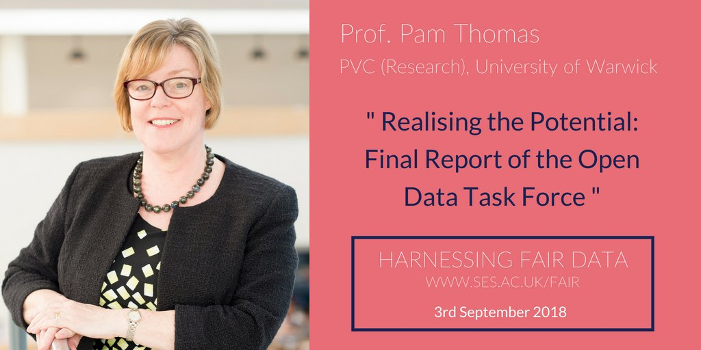 test Twitter Media - We're incredibly pleased to introduce Prof. Pam Thomas, Pro Vice Chancellor for Research from @warwickuni and our keynote speaker at Harnessing FAIR Data. For details on her talk, or to join #SESOpen on 3rd September, visit: https://t.co/Ac0d06Rm16 https://t.co/XUbQhKyU9r