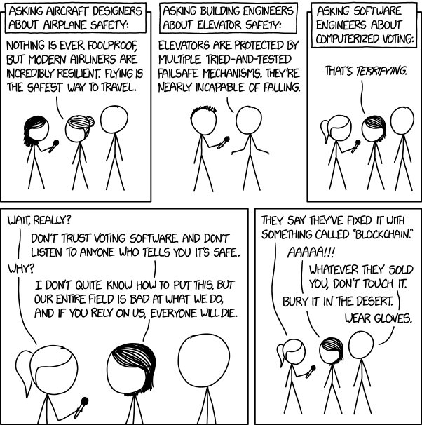 RT @xkcdComic: Voting Software https://t.co/7f5JJohhYI https://t.co/TKFNcEXWdk https://t.co/1ZsSvK3fHg