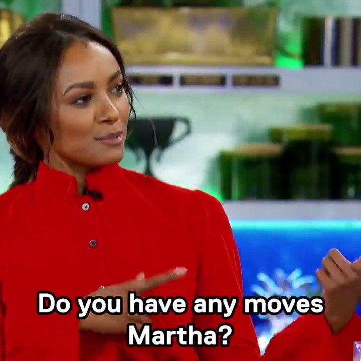 me n the homegirl @katgraham teaching @marthastewart some new moves! who watching tonite?! #MarthaAndSnoop https://t.co/IQNyHdEtM9