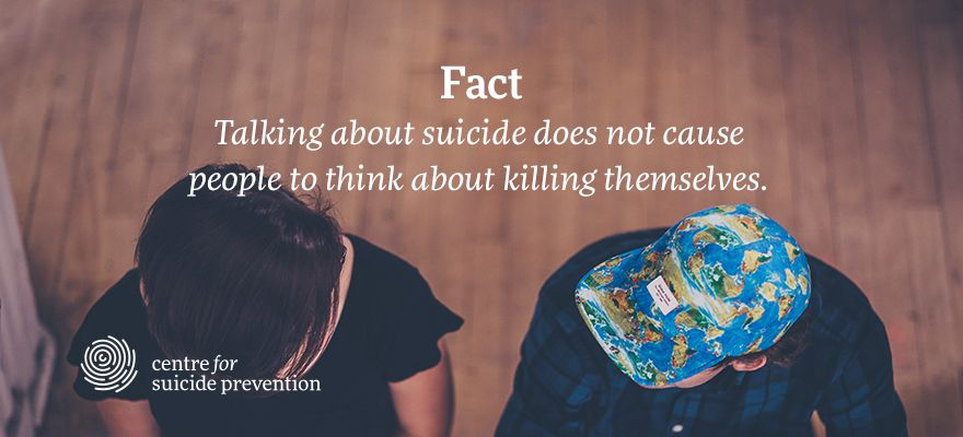 test Twitter Media - RT @cspyyc: Myth – talking about suicide will give my friend the idea to attempt suicide. https://t.co/hwuxzF4wYp https://t.co/3qvuQlAznp