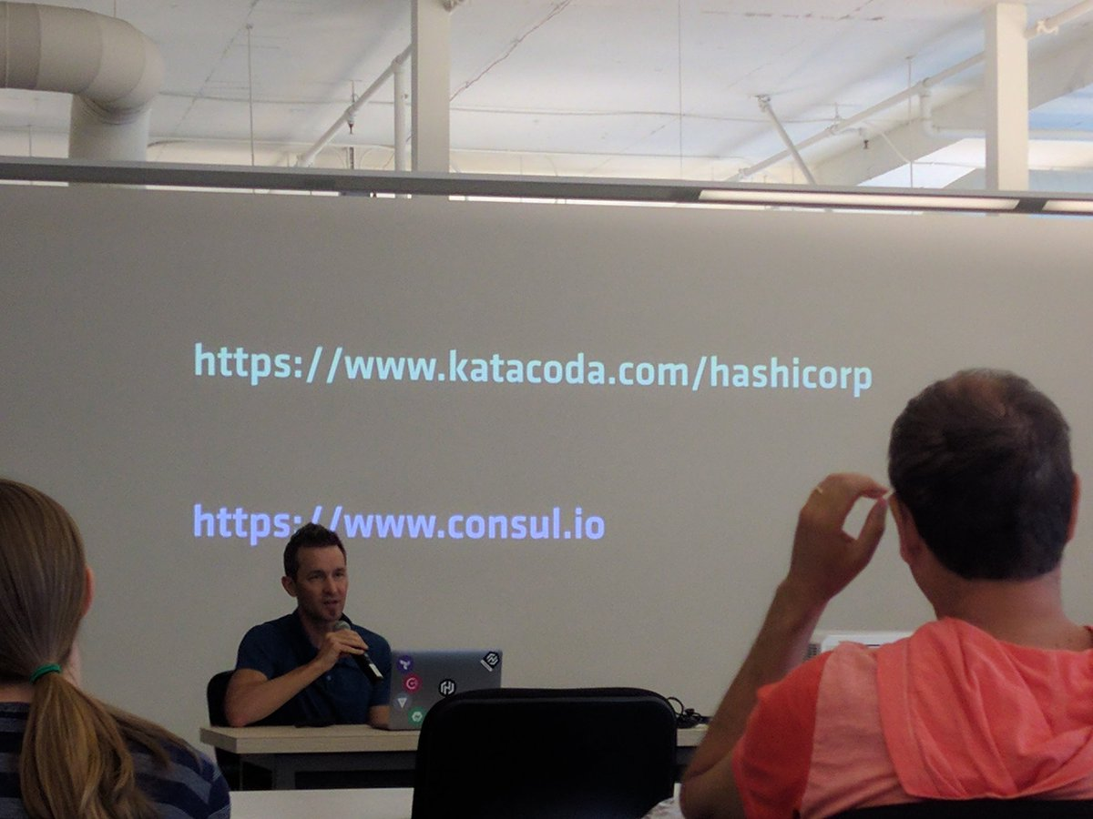 Catching up with @HashiCorp talks at Microsoft Reactor. Demo here https://t.co/8YFdC0R0xa