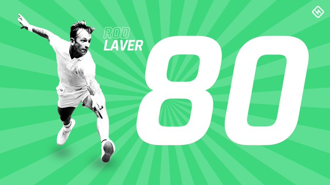 On this day, 80 years ago, an Australian icon was born.  Happy birthday, Rod Laver.