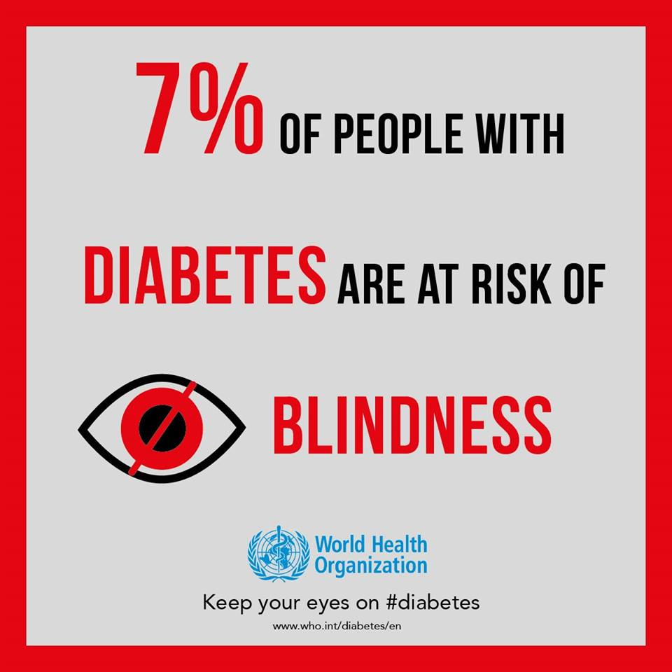 test Twitter Media - #DYK: #Diabetes is a major cause of 👁️#blindness: 7% of people with diabetes are at risk of blindness.  People with diabetes should have periodic, comprehensive eye examinations.  👉Do you know if you are #diabetic?  Make sure to have a check-up! https://t.co/2n4HiAIY3b