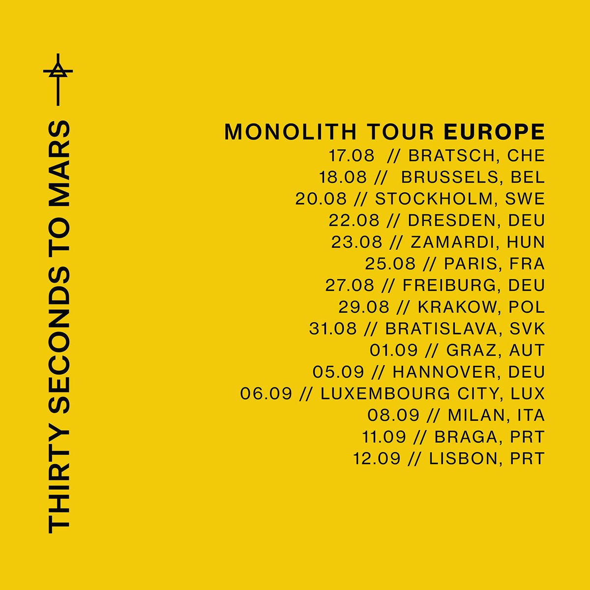RT @30SECONDSTOMARS: MONOLITH TOUR // EUROPE + LATIN AMERICA https://t.co/O4vmmChlAv https://t.co/orMc0VlKHs