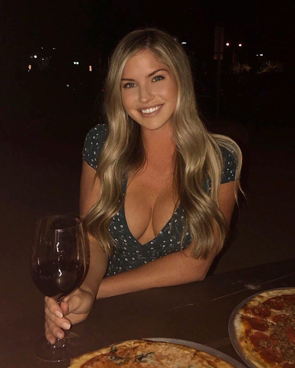 wine & pizza kinda night at 🍕🍷 wearing ❤️ o5NRKZVg2F