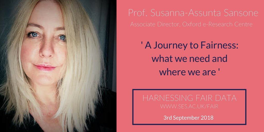 test Twitter Media - We're glad to welcome @SusannaASansone, Associate Director at @OxfordeResearch to Harnessing FAIR Data. Register to hear from Susanna and our other speakers on 3rd September @qmul https://t.co/Ac0d06Rm16 #OpenData @eResearch_UCL https://t.co/HVafkzpATo