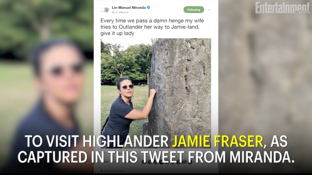 .@Lin_Manuel's wife @VAMNit tried to pull an Outlander because everyone loves Jamie Fraser: