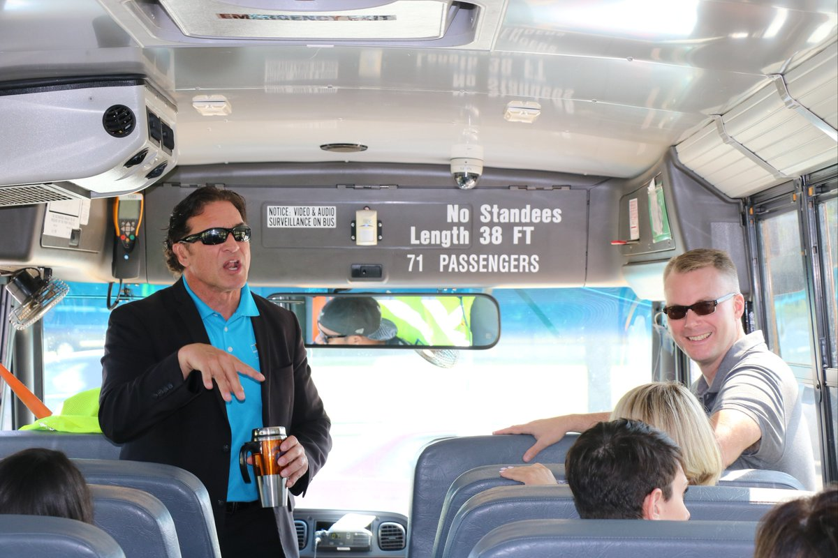 test Twitter Media - D30's new teachers took a bus tour of Northbrook and Glenview on August 9, during  the second day of Teacher Orientation Days.  N. Lee and the principals showed them the communities, village halls, libraries, restaurants, and other schools in the area. #d30learns https://t.co/MV6NaLVCix
