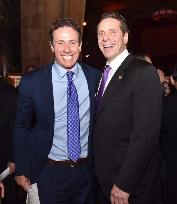 My Governor and his brother. Happy Birthday Chris Cuomo. And I love my Governor