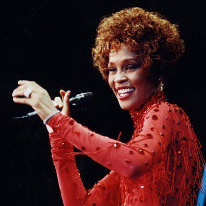 Happy Birthday to The Voice Whitney Houston  We think she looks ravishing in red
