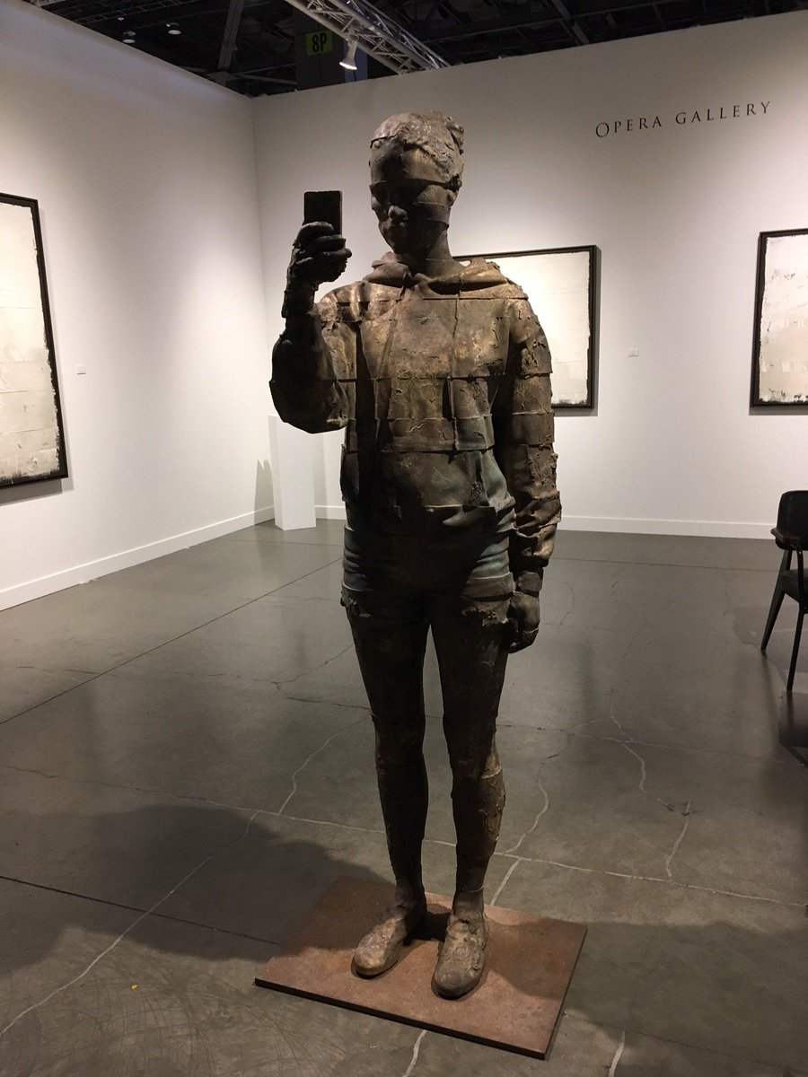 "test Twitter Media - A perfect example of art imitating life! ""Selfie"" brass sculpture by Swiss artist Andy Denzler exhibited at the Seattle Art Fair. #fantasyfan #fantasynovel #operagallery https://t.co/5L6Cw9tjJm"