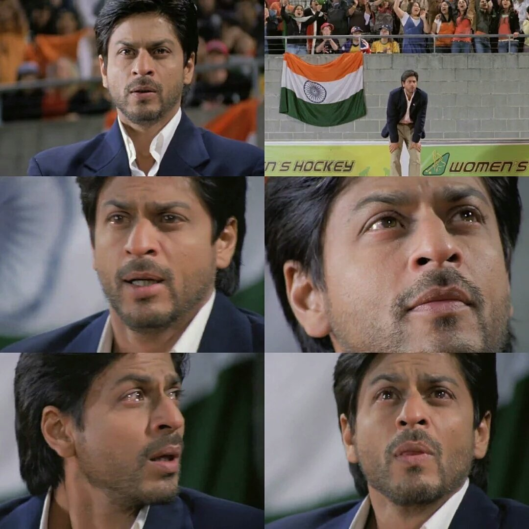 Words fall short to describe the awesomeness of @iamsrk in this scene.  RT if you agree.🙌  #13YearsOfEpicChakDeIndia