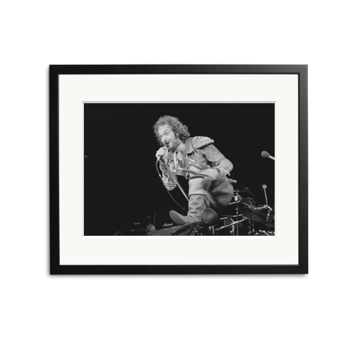 Happy Birthday to Ian Anderson of Jethro Tull - photographed by Richard McCaffrey in 1975.