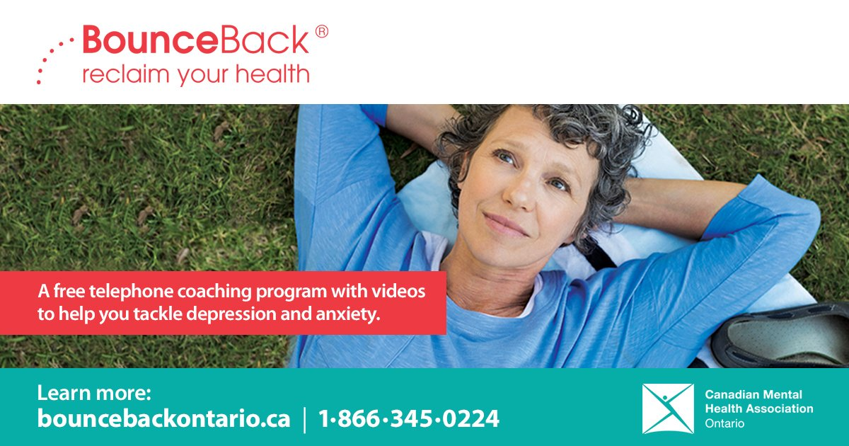 test Twitter Media - @CMHAOntario has launched a new guided, self-help program called BounceBack. The program is free and helps adults and youth aged 15+ learn skills to tackle depression and anxiety. Learn more at https://t.co/ZpzCNPjxqP https://t.co/SeIcHJ8kKl