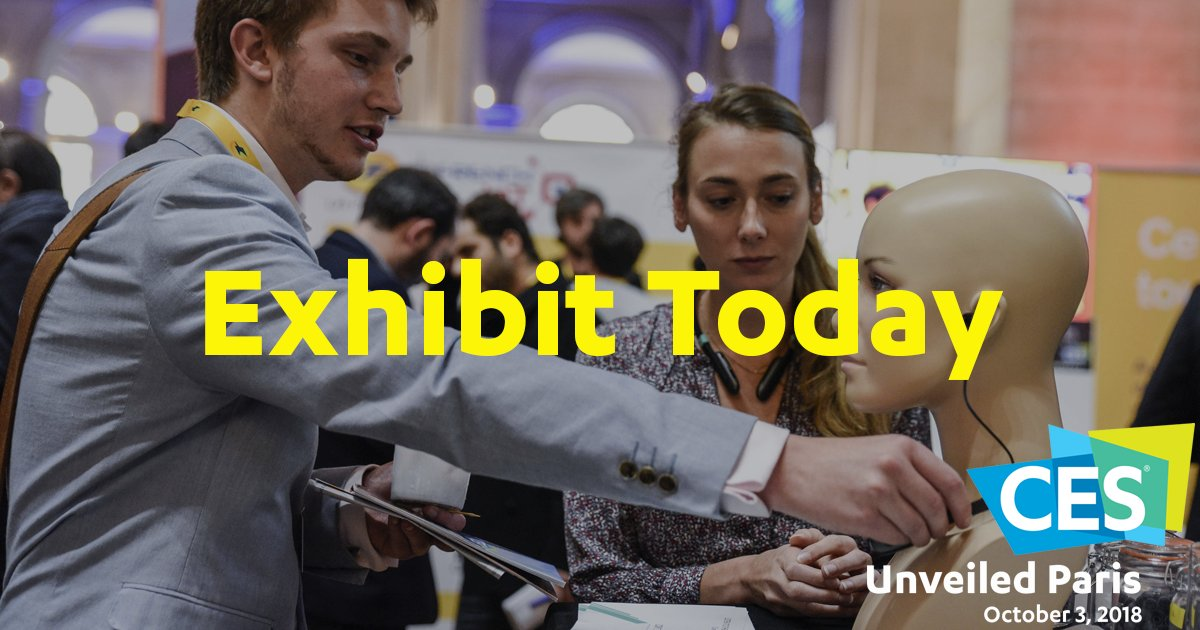 Hear and see the latest technology trends at #CESUnveiledParis. Register today https://t.co/foImHWvQr4 https://t.co/fvOwFZWMcu