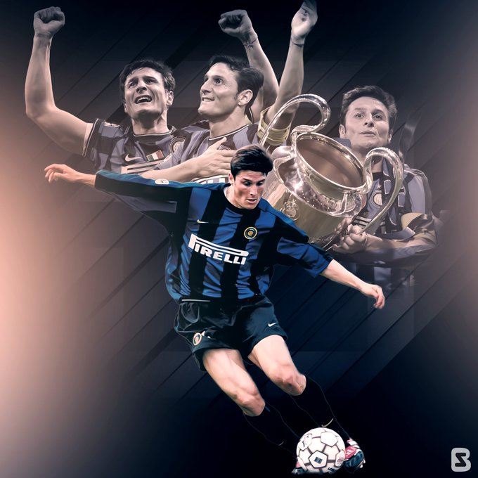 Happy 4  5  th birthday to Javier Zanetti !