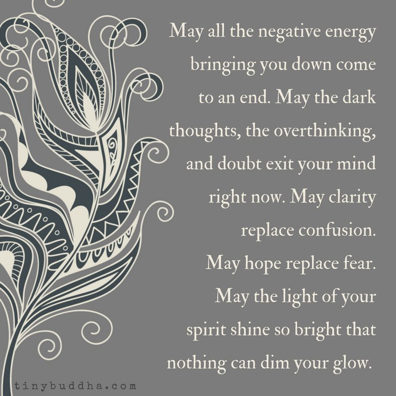 May all the negative energy bringing you down come to an end. May the dark thoughts, the overthinking, and doubt exit your mind right now. May clarity replace confusion. May hope replace fear. May the light of your spirit shine so bright that nothing can dim your glow. https://t.co/aR7uyJksIB