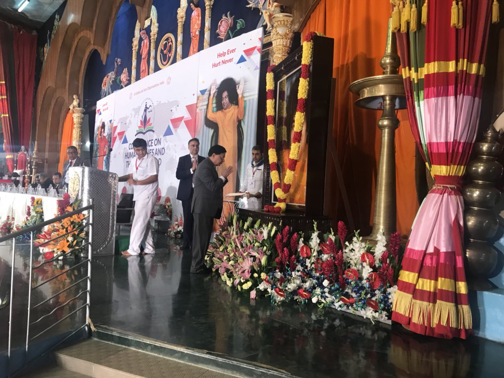 """#SSSSOIndia #SSSCT Hon.ble Chief Justice of India #JusticeDIPAKMISRA  addressing the esteemed gathering at the National Conference on """"Human Values and the Legal World"""" at Prasanthi Nilayam,Puttaparthi,AndhraPradesh #WEAREALLONE @PMOIndia @narendramodi sir"""