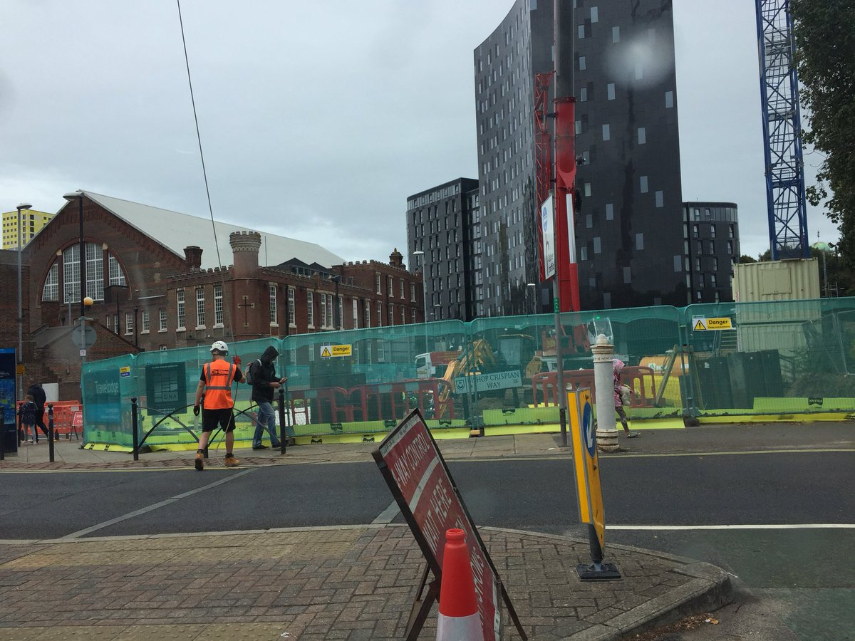 test Twitter Media - This picture is the new view opposite Bishops House here in Portsmouth. Yes - a building site! I thought I'd capture the scene before they complete the Travelodge. Should be good as it may bring visitors to Mass at the Cathedral. https://t.co/MeNLGuO6ak