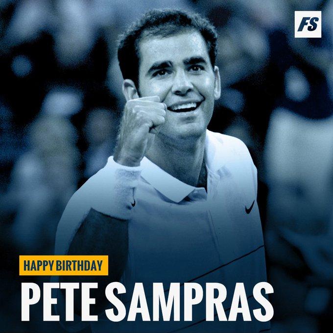Happy birthday Pete Sampras aka Pistol Pete!
