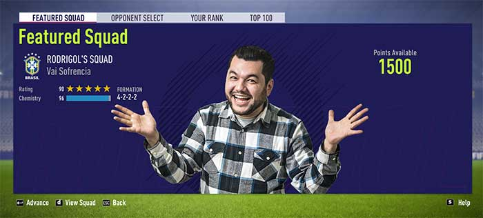 This week, you can play against Brazilian Youtuber Rodrigo's squad on Squad Battles. #FIFA18 https://t.co/eIM5kr6Lbe