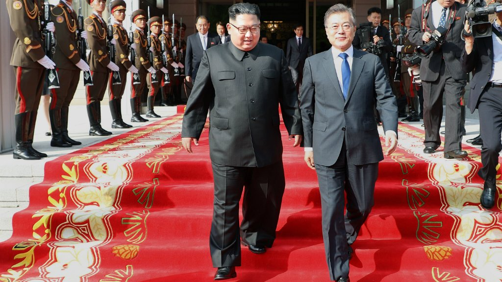 North Korea's Kim Jong Un and South Korea's Moon Jae-in will hold their third summit