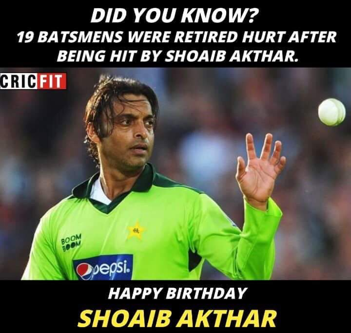 Happy Birthday Shoaib Akhtar!