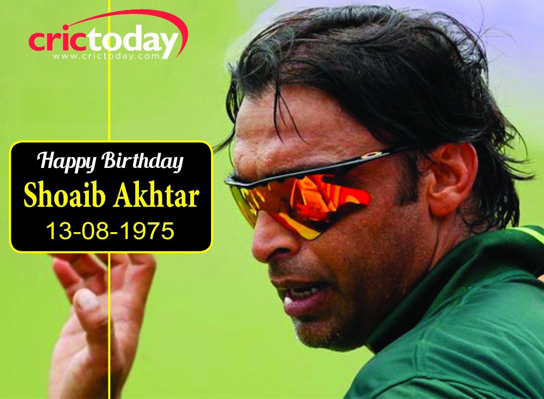 Wishing Shoaib Akhtar a very happy birthday.....