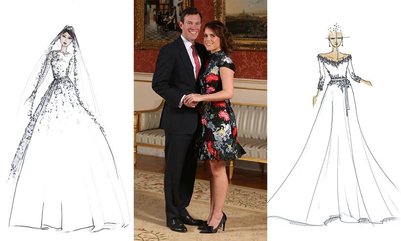 We asked some top bridal designers to share their visions for Princess Eugenie's big day: