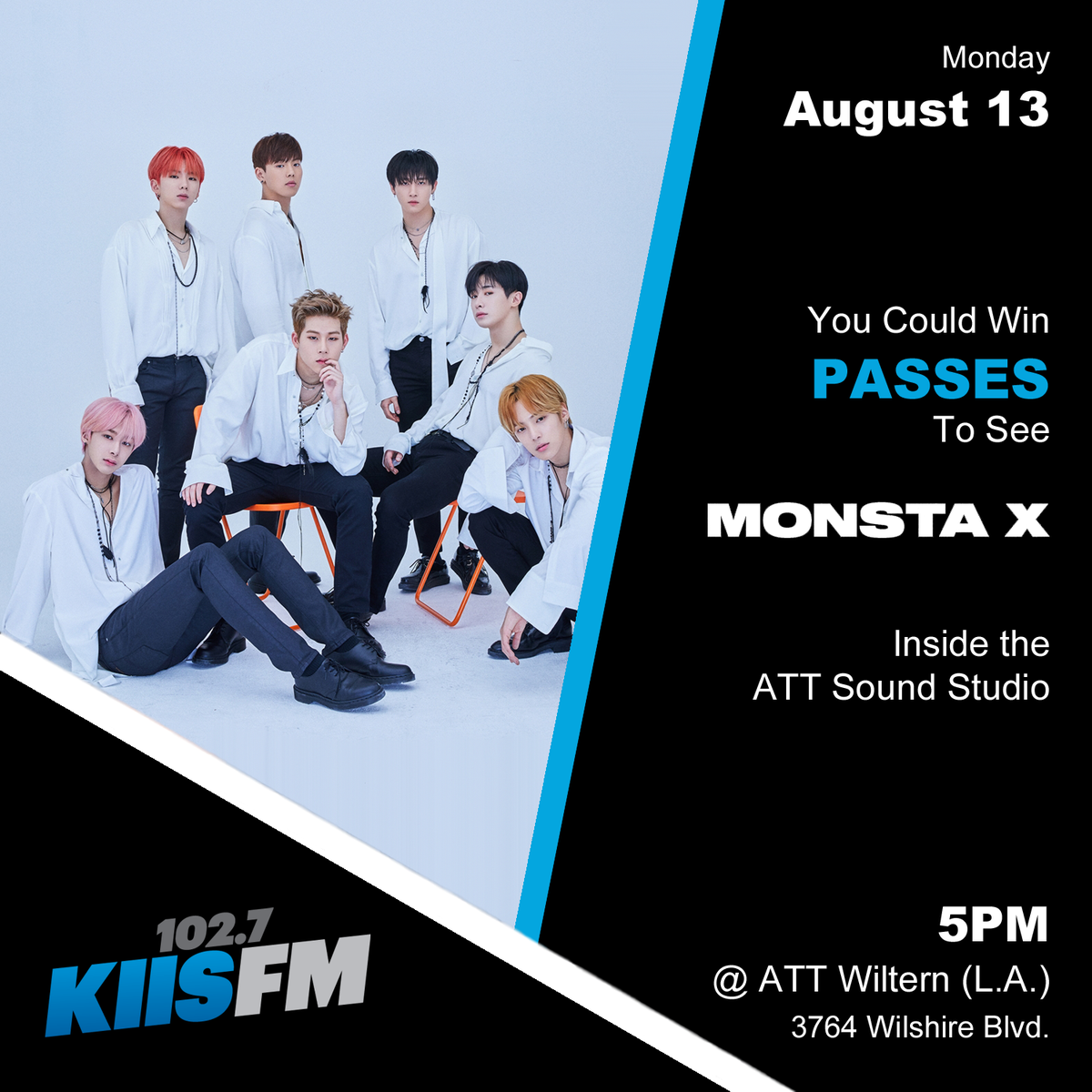 test Twitter Media - Didn't win tickets to meet @OfficialMonstaX in our @ATT Sound Studio? See @AlexOnTheMic TODAY at the AT&T Wiltern (3764 Wilshire BLVD, Los Angeles, CA) for your chance to win! #YourThing #MonstaX #MonBebe #LosAngeles https://t.co/hn4z7DQo1C