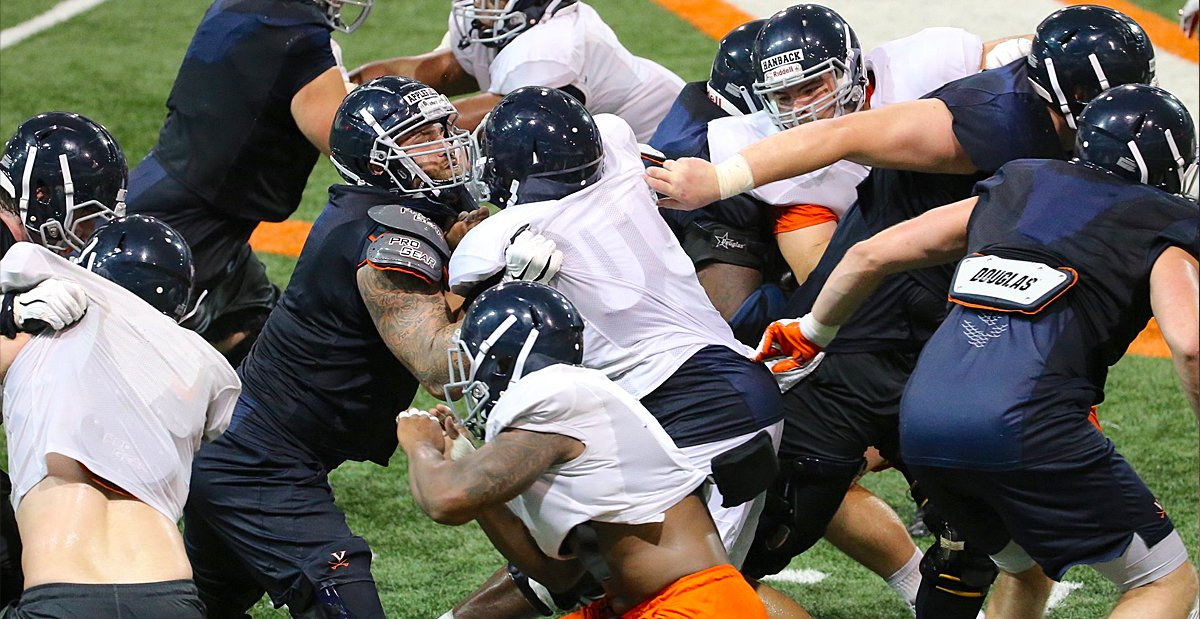 Injuries cause reshuffling on #UVA offensive line … https://t.co/sKWS85hfPM https://t.co/WJsTukvrt0