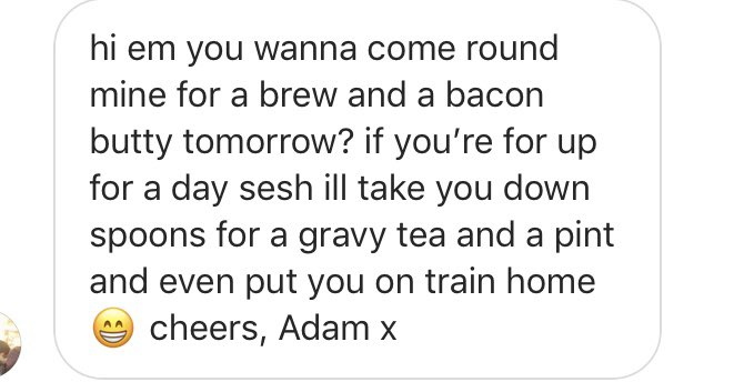 Sometimes I do love that extra little direct message bit on your Instagram. Adams gone for it. He's smashed