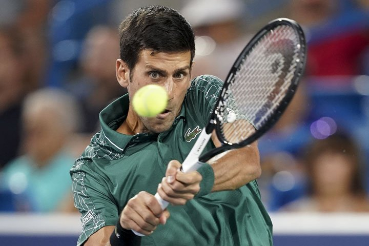 @BroadcastImagem: Djokovic desperdiça 8 match points, mas vence na estreia em Cincinnati. John Minchillo/AP