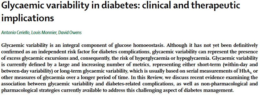 test Twitter Media - Latest Review - Glycaemic variability in diabetes: clinical and therapeutic implications https://t.co/jCoRlZ3Uix #diabetes #glycaemic #variability https://t.co/Mh6pUETlxC