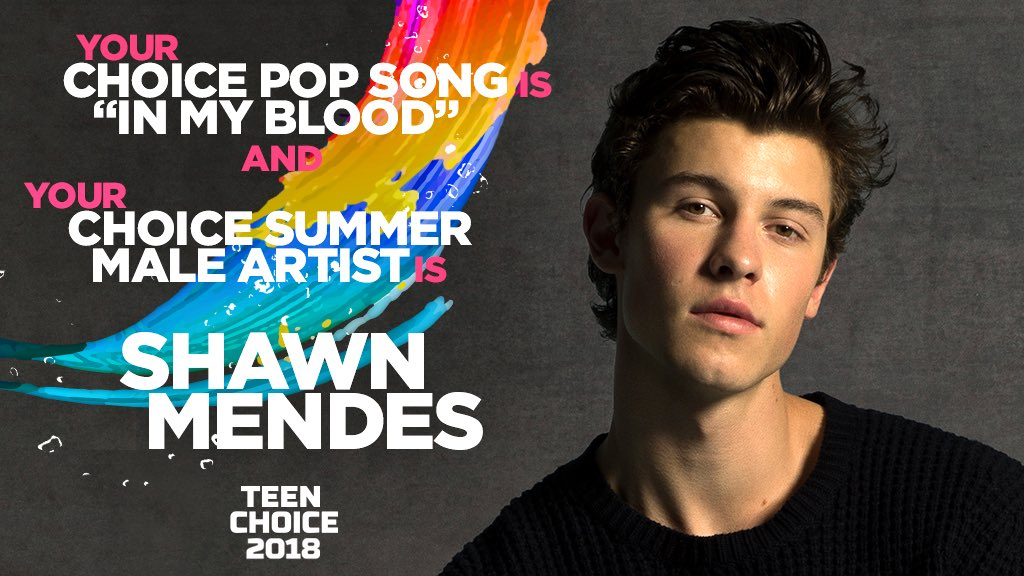 RT @ShawnAccess: Congrats @ShawnMendes on your two @TeenChoiceFOX wins! https://t.co/gnFjtc8H73