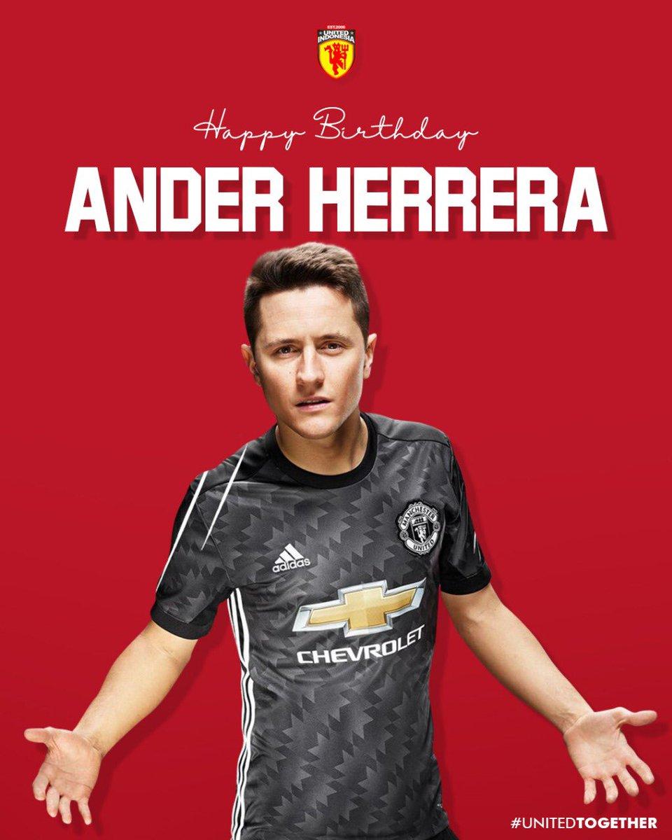 RT @UtdIndonesia: Feliz Cumpleaños, Ander Herrera. Best wishes from Indonesia #UtdIndonesia #UnitedTogether https://t.co/9EgKJe81DG