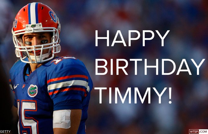 Join us in wishing a happy birthday to Florida legend Tim Tebow! 31 looks good on you!