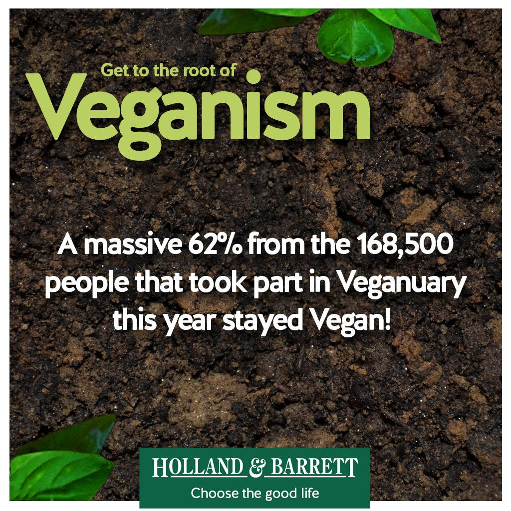 That's 104,470 new #vegans from #veganuary this year alone! Hands UP if you were you one of the 62% #VeganHour!🌱🙌 https://t.co/5ta99CqHli
