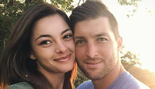 Miss Universe Demi-Leigh Nel-Peters is gushing over Tim Tebow for his birthday.