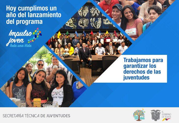 RT @JuventudesEcu: Hoy cumplimos un año del lanzamiento 🚀 #ImpulsoJovenEc #MesDeLaJuventudes  #ElGobiernoDeTodos https://t.co/8A4VebeIGs