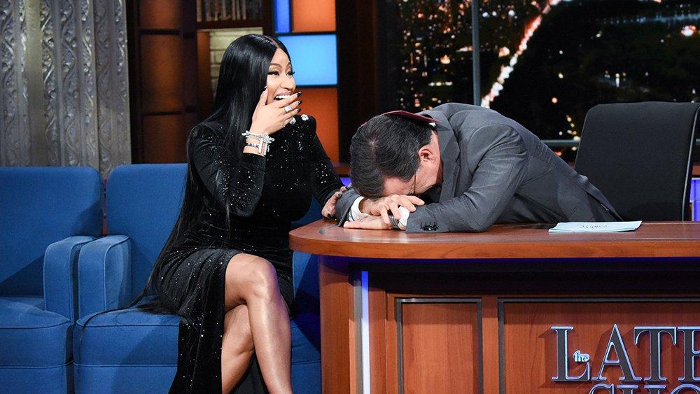 Watch Nicki Minaj add an X-rated verse about Stephen Colbert to